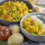 Geschmortes Weißkohl-Curry mit Kartoffeln   Toastenstein