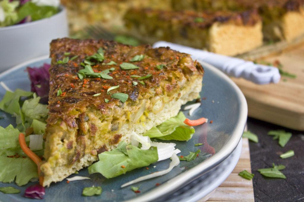 Porree-Pilz-Kuchen mit Kichererbsen | Toastenstein
