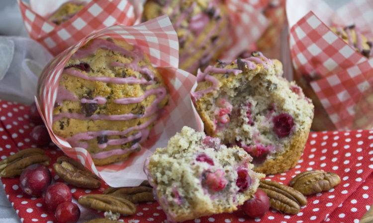 Pekannuss-Cranberry-Muffins | Toastenstein