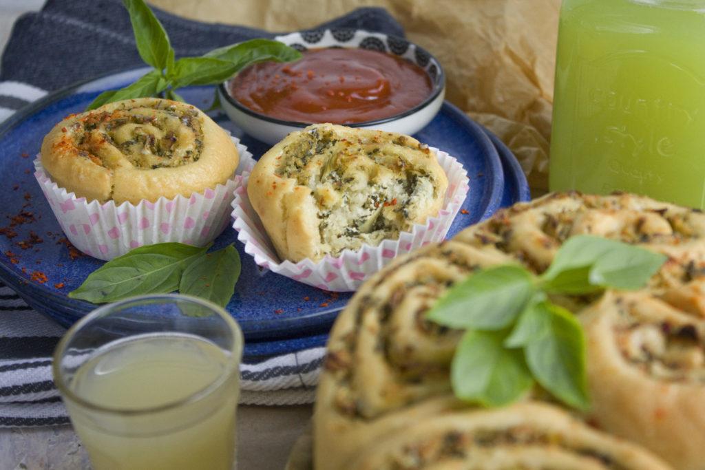 Fluffige Artischocken-Spinat-Schnecken | Toastenstein