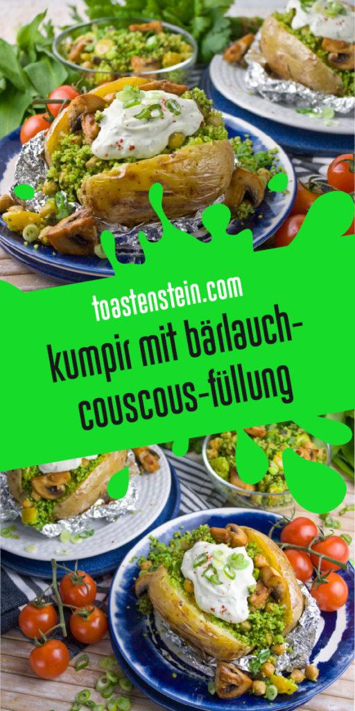 Kumpir mit Bärlauch-Couscous-Füllung | Toastenstein