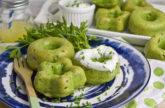 Gebackene Bärlauch-Petersilien-Donuts