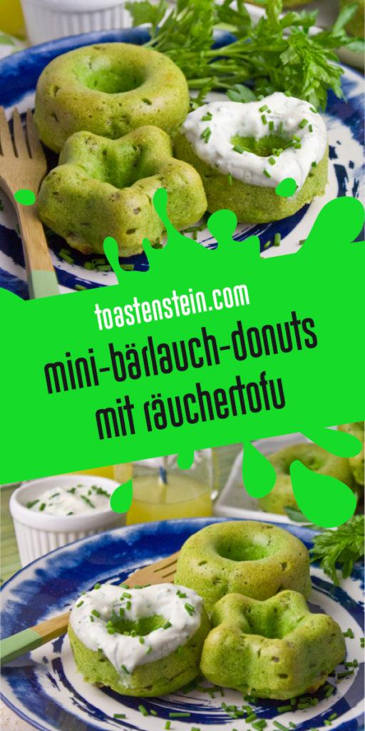 Gebackene Bärlauch-Petersilien-Donuts | Toastenstein