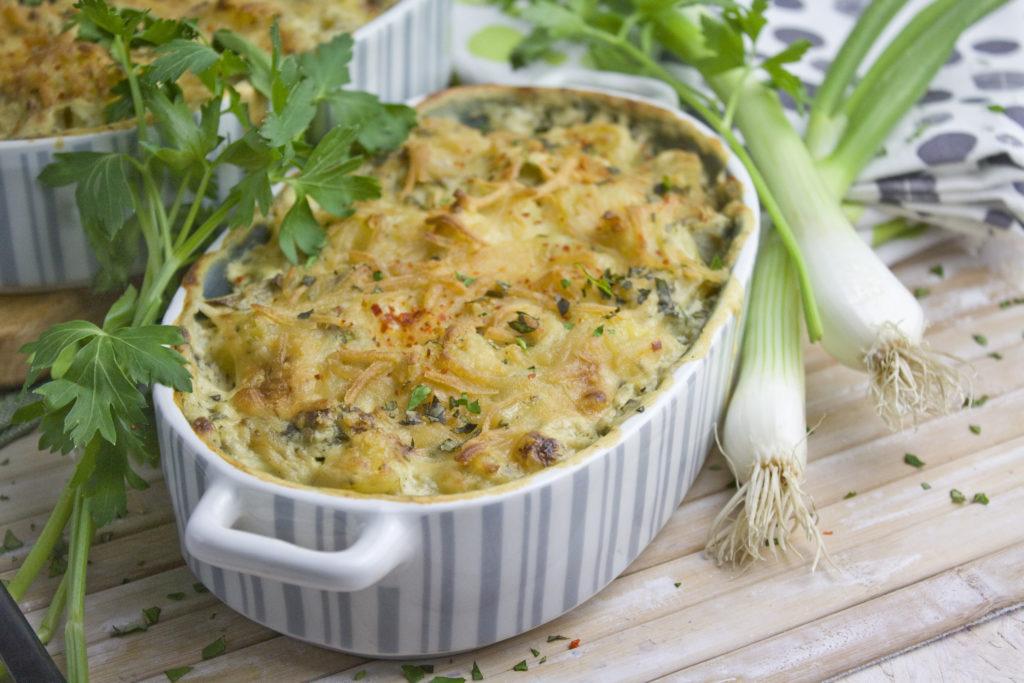 Kartoffel-Spargel-Auflauf mit Frühlingszwiebeln | Toastenstein
