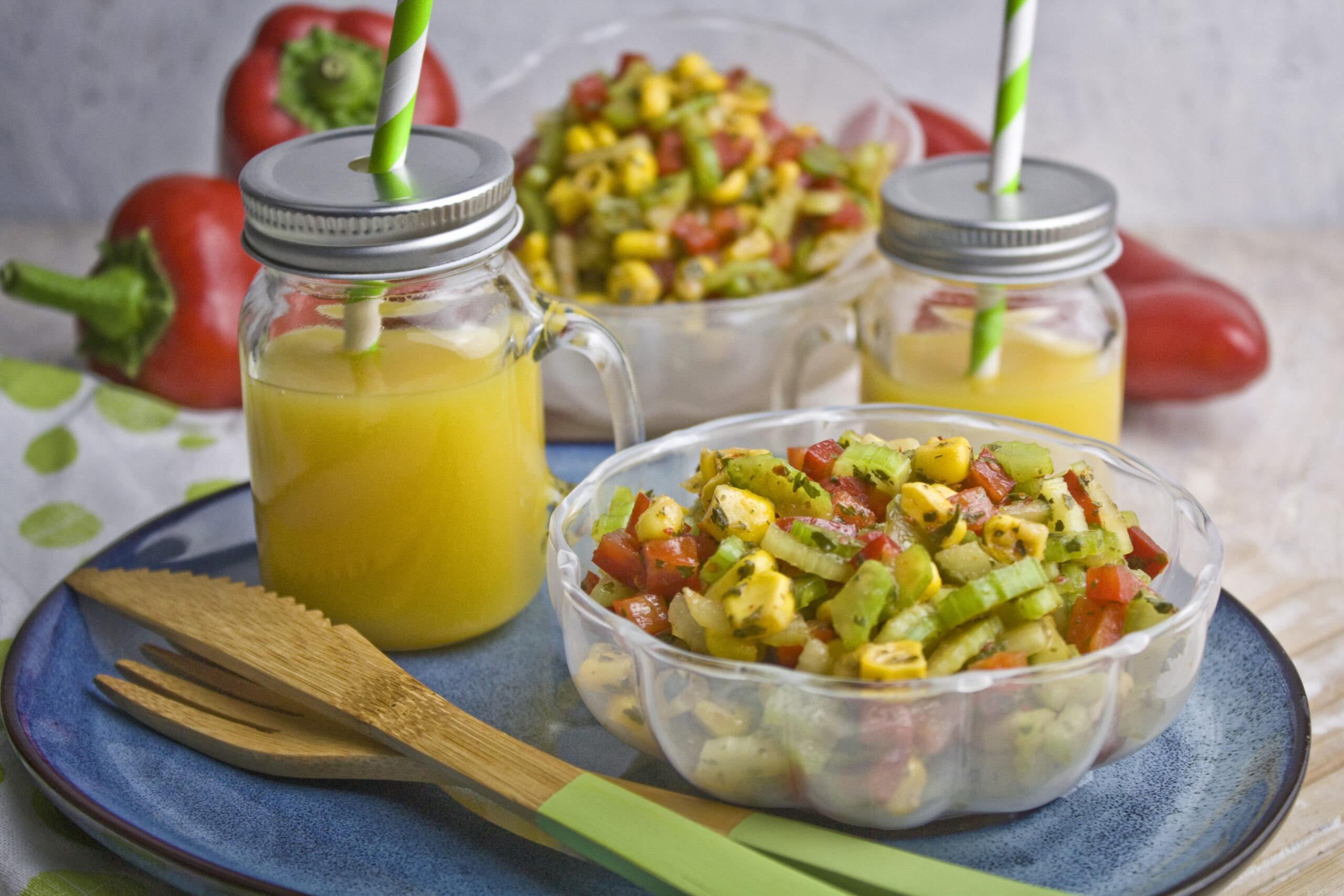 Scharfer Sellerie-Mais-Salat - Für die Grillsaision | Toastenstein