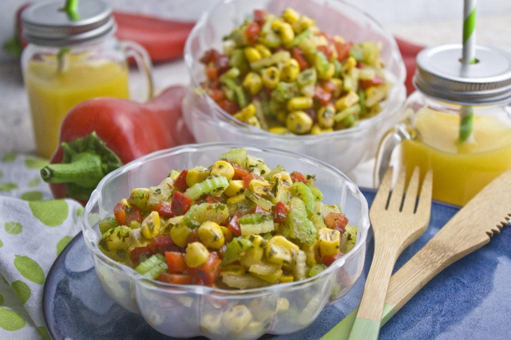 Scharfer Sellerie-Mais-Salat - Für die Grillsaison | Toastenstein