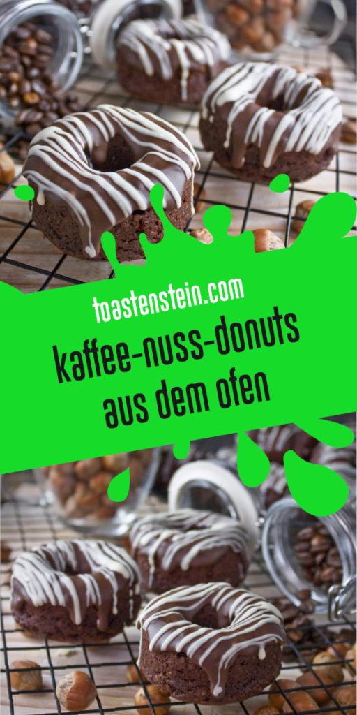 Kaffee-Nuss-Donuts aus dem Ofen | Toastenstein