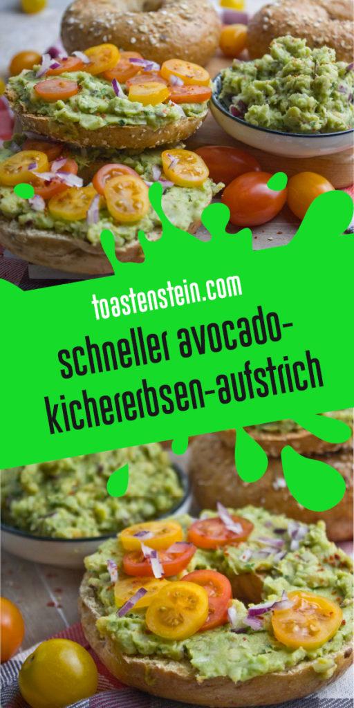 Schneller Avocado-Kichererbsen-Aufstrich | Toastenstein