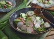 Schneller Gurken-Radieschen-Salat mit Wasabi-Dressing   Toastenstein
