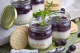 Blaubeer-Orangen-Cheesecake im Glas