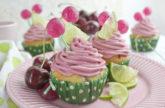 Kirsch-Limetten-Cupcakes – Süßer Sommer!