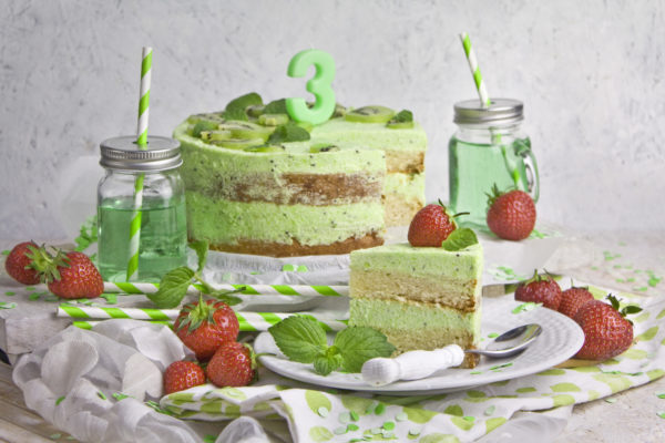 Kiwi-Melonen-Torte – Happy Birthday!