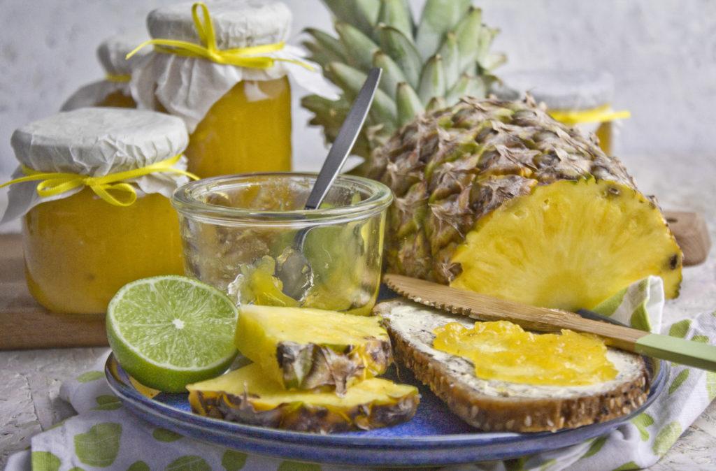 Ananas-Mango-Limetten-Marmelade - Tropi-Frutti! | Toastenstein