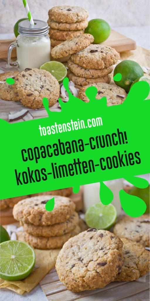 Copacabana-Crunch - Kokos-Limetten-Cookies | Toastenstein