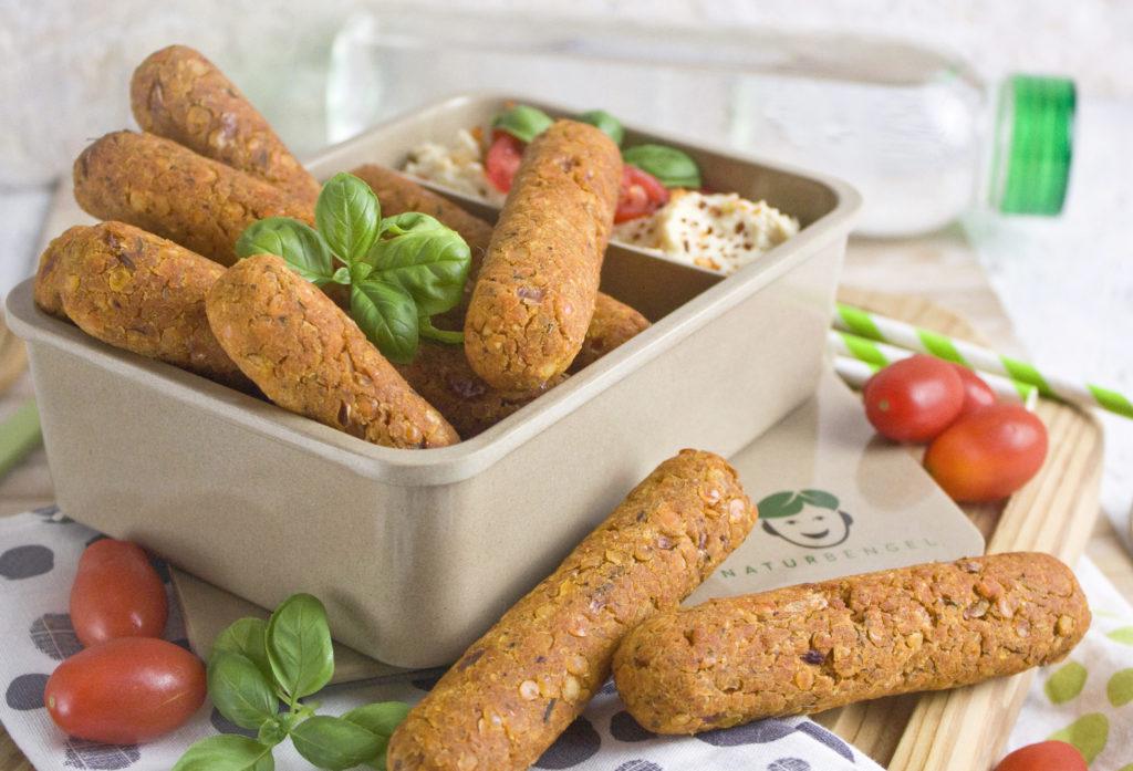 Linsen-Polenta-Sticks aus dem Ofen   Toastenstein