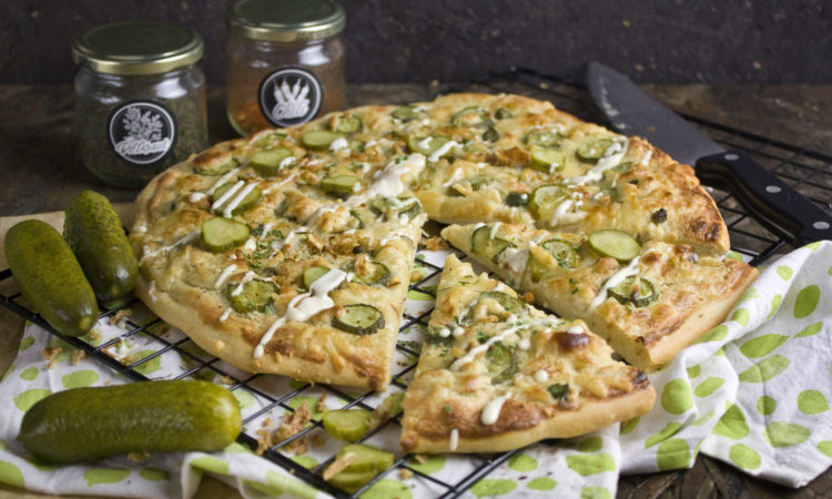 Knoblauch-Gurken-Pizza | Toastenstein
