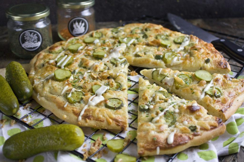 Knoblauch-Gurken-Pizza | Toastenstein