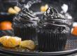 Mitternachts-Cupcakes mit Clementinen [Halloween Edition]