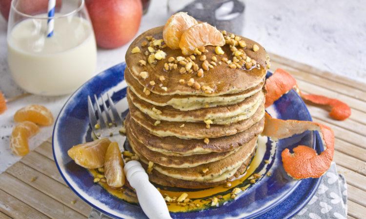 Nektarinen-Mohn-Pancakes #pancakesunday | Toastenstein
