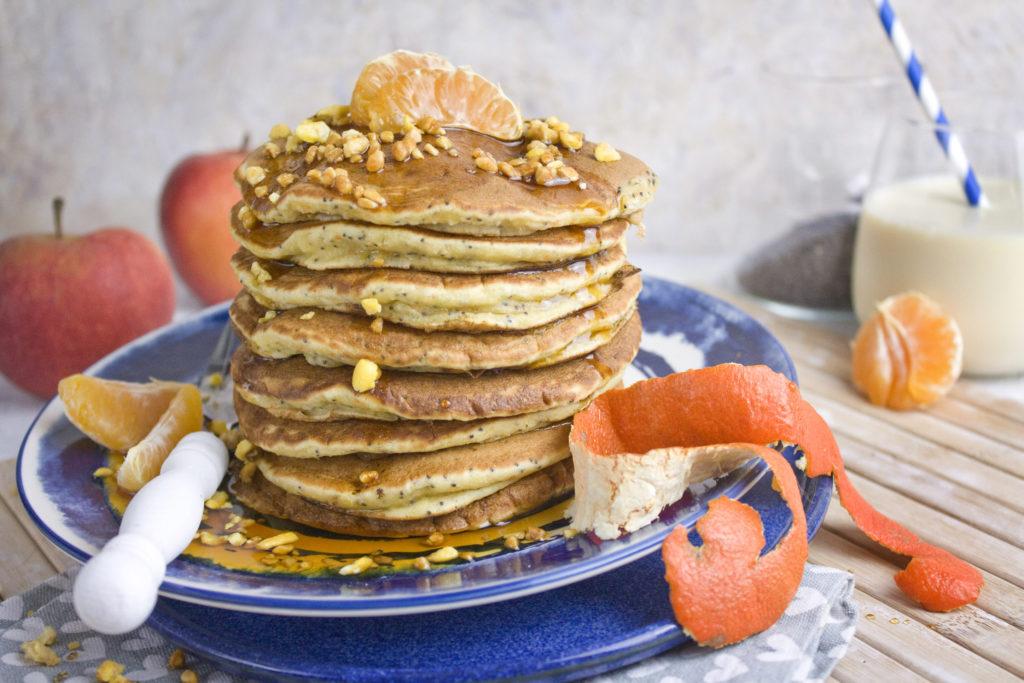 Clementinen-Mohn-Pancakes #pancakesunday | Toastenstein