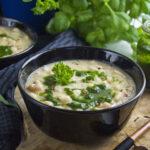 Weiße Bohnensuppe mit Kräuter-Sauce | Toastenstein
