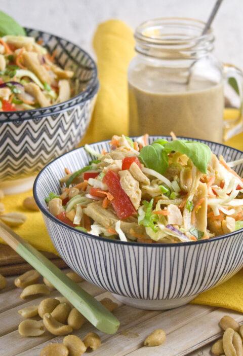 Veganer Thai-Chicken-Salat | Toastenstein