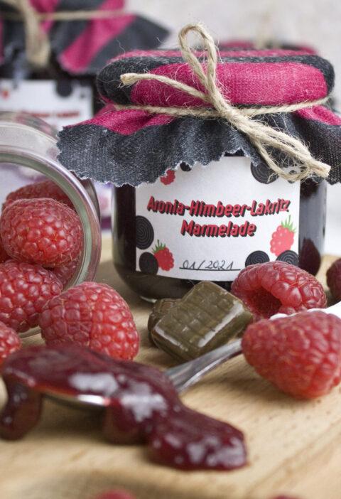 Aronia-Himbeer-Lakritz-Marmelade | Toastenstein