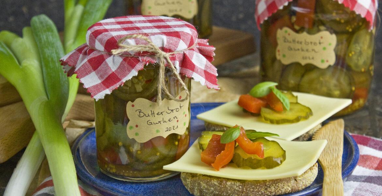 Eingelegte Butterbrot-Gurken mit Paprika | Toastenstein