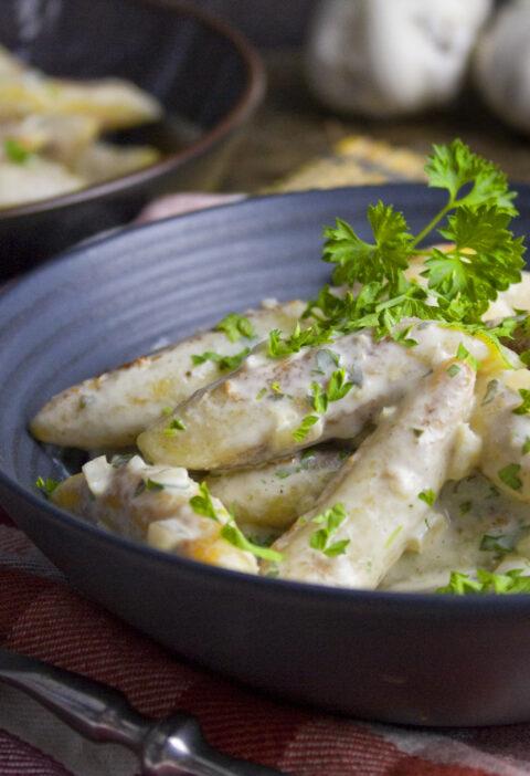 Schnupfnudeln in Knoblauch-Petersilien-Sauce | Toastenstein