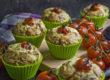 Herzhafte und fluffige Rucola-Bärlauch-Muffins