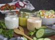 Veganes Joghurt-Dressing in drei Varianten