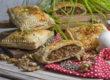 Herzhafte Linsen-Nuss-Strudel mit Pilzen